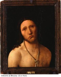 """Ecce Homo"" di Antonello da Messina."